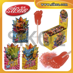 SK-P050 Fruit Foot Lollipop With Magic Pop Candy