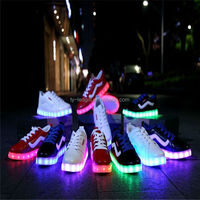 2015 the foreign trade shoes colorful led rechargeable light with flat shoes