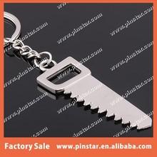 Portable imitation tools design keyring decorative hacksaw key ring metal