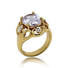Europe and America fashion gold plated jewelry diamond ring