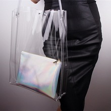 Brand new transparent pvc handbag brand women handbag kinds of handbag with high quality