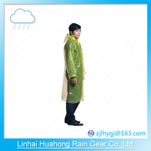 PE PEVA before open long gown raincoat with buttons