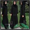 KJ stylish 2 tone colors dubai abaya jalabiya popular in Singapore P-140603