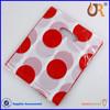 Custom promotional die cut plastic gift bag with handle