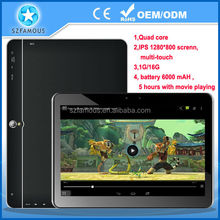 New products 2014 retail 10.1 inch Quad core tablet pc with android4.4 voice calling