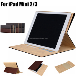 Custom Full Packaging Pattern Design Flip PU Leather Cover For iPad Mini 2/3 Case
