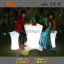 outdoor high top bar tables/ led bar table/led portable table and chairs