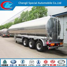 Aluminum tri-axle fuel tank trailer tri-axle semi trailertanker trailers tank semi trailer aluminum fuel
