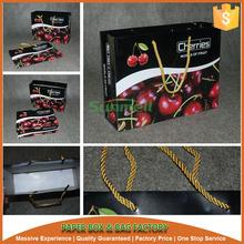 cherry fruit biodegradable paper bag