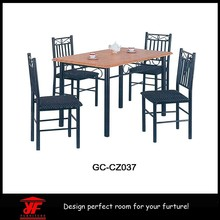Most popular cheap wooden outdoor dinning table set