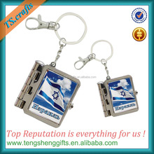New products with your brand your design promotional mini book keychain wholesale