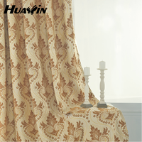 2015 100% polyester newest design chenille embroidery curtains