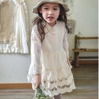 China Wholesale New Design Girls Dress Long Sleeve Simple Design Girls Dresses