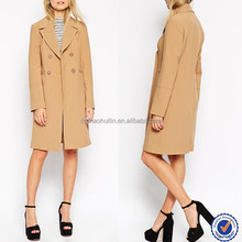 china supplier lamb wool coat for woman long sleeve wool polyester quality overcoat
