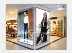 Ultra slim aluminum backlit led light up picture frame clip lighting acrylic snap poster frame
