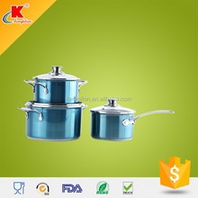 2015 Hot custom 6pcs professional stainless steel cookware