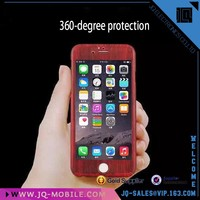 360 Full Body Protector Case For iPhone 6, Tempered Glass Phone Case For iPhone 6s