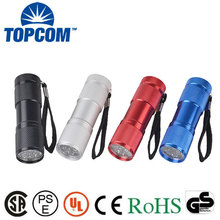Custom Logo Printing Promotional 9 LED Torch with Branding