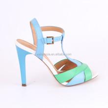 VALLENSSIA Low Price Ladies T-Strap High Heel Fish Head Sandals