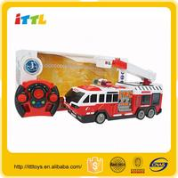 High quality 4channel fire fighting truck remote control model car , rc car for sale