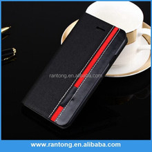 High quality flip leather case for alcatel one touch pop c7