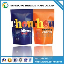 Nice-Looking Stand Up Plastic Snack Packaging Bag For Biltong Beef