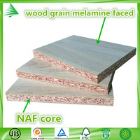 NAF standard 9-25mm wood grain melamine flakeboards