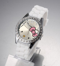 2015 New Brand Hello Kitty Cartoon Jelly children watch