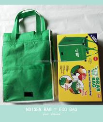 High Quality Grab Bag / Clip to Cart Shopping Bag / Non Woven Cart Bag / Cart Helper Bag / Grab Trolley Bag