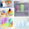 Brindes promocionais mini-container creme de gelo do tubo e jarros de silicone de cabelo de viagem frascos de óleo