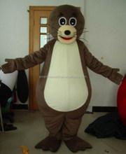 Sm422 venda direta da fábrica brown seal traje da mascote de pelúcia de vedação costume adult traje selo