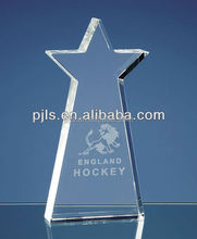 3 angle China cheap glass star trophy blank for engrave