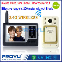Hot Wireless Door Viewer With Video Door Phone 2 in 1 View Angle 92degree Nightvision Take Photo Store100pcs Picture PY-V3502-B