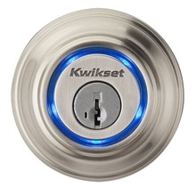 KWIKSET 99250-002 KEVO BLUETOOTH DOOR LOCK - SATIN NICKEL