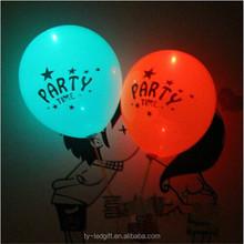 LED color light balloon Heart-shaped print