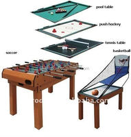 Best sell cheap price home sport multi functions 5 in 1 basketball Pool table for kids