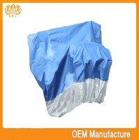 Double colour 190t silver coated safe motorcycle tent cover at factory price