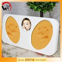 2015 new plaster footprints baby 12 month photo frame