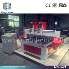 Unich high technology two spindles cnc machine/cnc foam cutting machine
