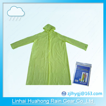 PE\PEVA pullover raincoat