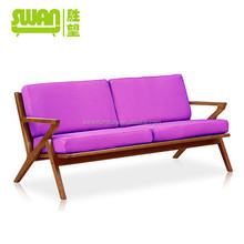 5026-3 latest sofa with wooden arms