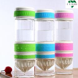 500ml borosilicate glass lemon water bottle /lemon bottle / Lemon juice bottle /Fruit Infused Lemon Glass Water Bottle