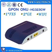 Ftth gpon 2fxs 4fe voip wifi ont wireless optical fiber gepon modem