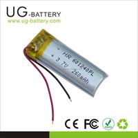 Li-polymer 260mAh lipo battery 3.7v, Lithium Polymer rechargeable Battery