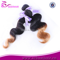 Cheap sew in hair extensions in mumbai india,100% human ombre hair braiding hair