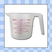 custom 16oz high quality plastic measuring cup with handle/wholesale custom made plastic measuring cup/customized cup supplier
