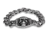 Wholesale big heavy stainless steel skull head bracelet poker bracelets