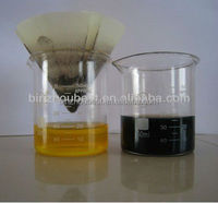 Highly activated bleaching powder doe refining used engine oil