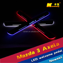 High quality Car parts Welcome pedal for Mazda Axela LED Moving Door Scuff,door sill car pedals 2014-2015