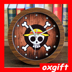 OXGIFT ONE PIECE wooden table clock